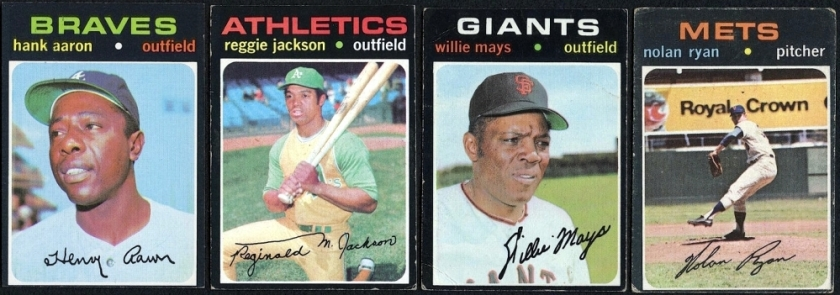 Main1 Lot Of 8 1971 Topps Baseball Cards With Ted Williams