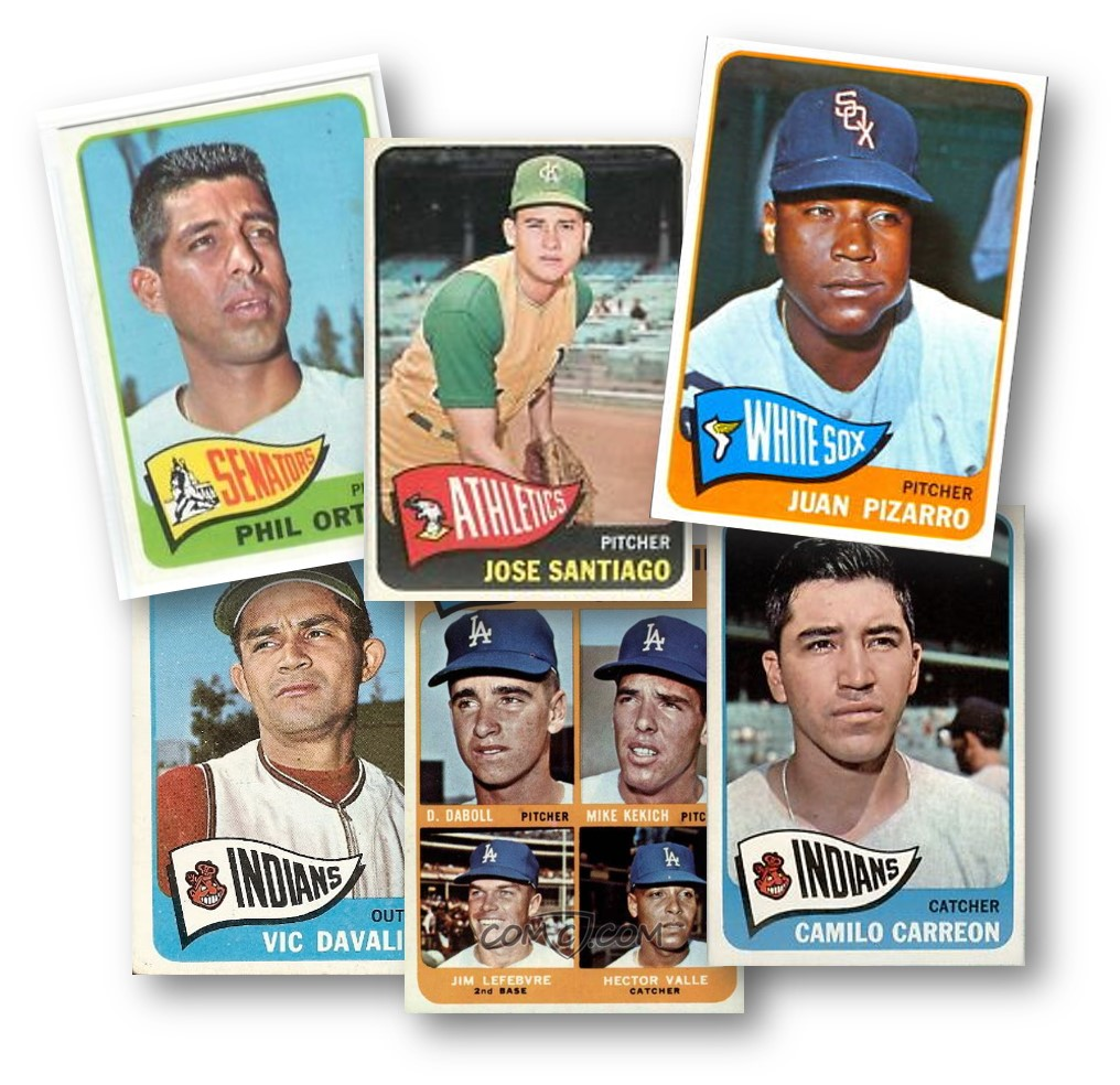 Latino Commons in a 1965 Topps Card Lot