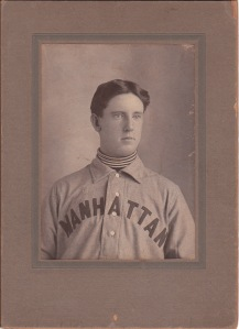 Family photo cabinet card of a young player