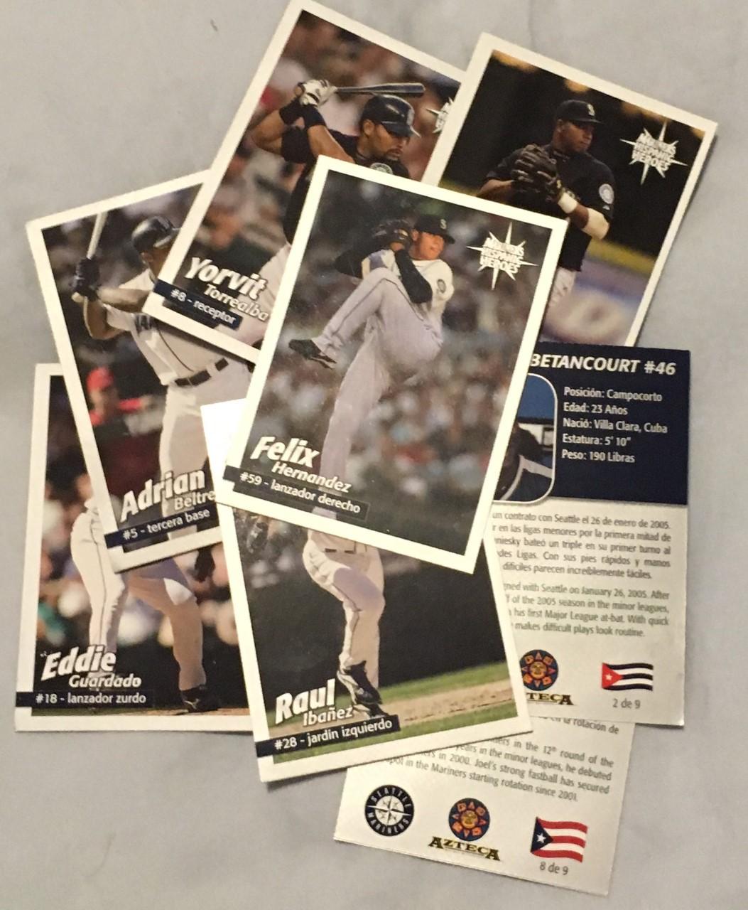 Hispanic Heroes: A Seattle Mariners promo cardset
