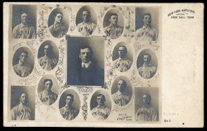 Carl Horner postcard of the 1904 New York Giants