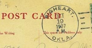 1907 postmark