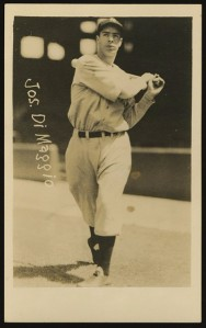 circa 1936 George Burke postcard of Joe DiMaggio