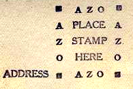 azo text in a stampbox