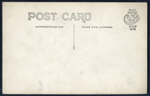 Divided back postcard. The left side was for the letter and the right side was for the address.