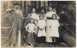 Many vintage real photo postcards are family photos