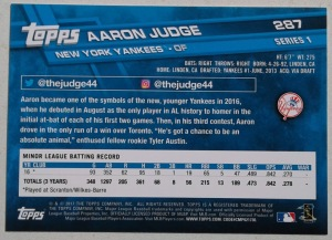 2017 Topps Aaron Judge B-Side