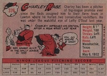 1958 Rabe card back