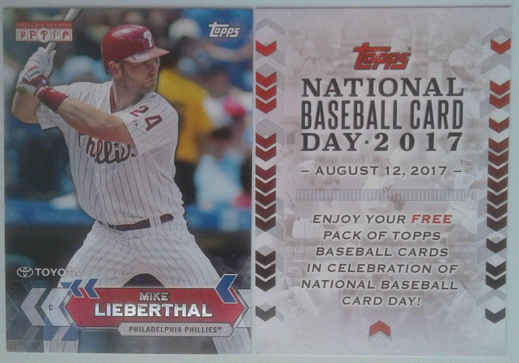 Thoughts On National Baseball Card Day Phillies Wall Of