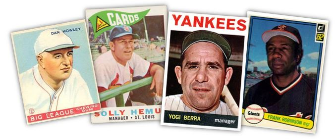 "Putting the ""old"" in old cardboard: 50 years of manager cards"
