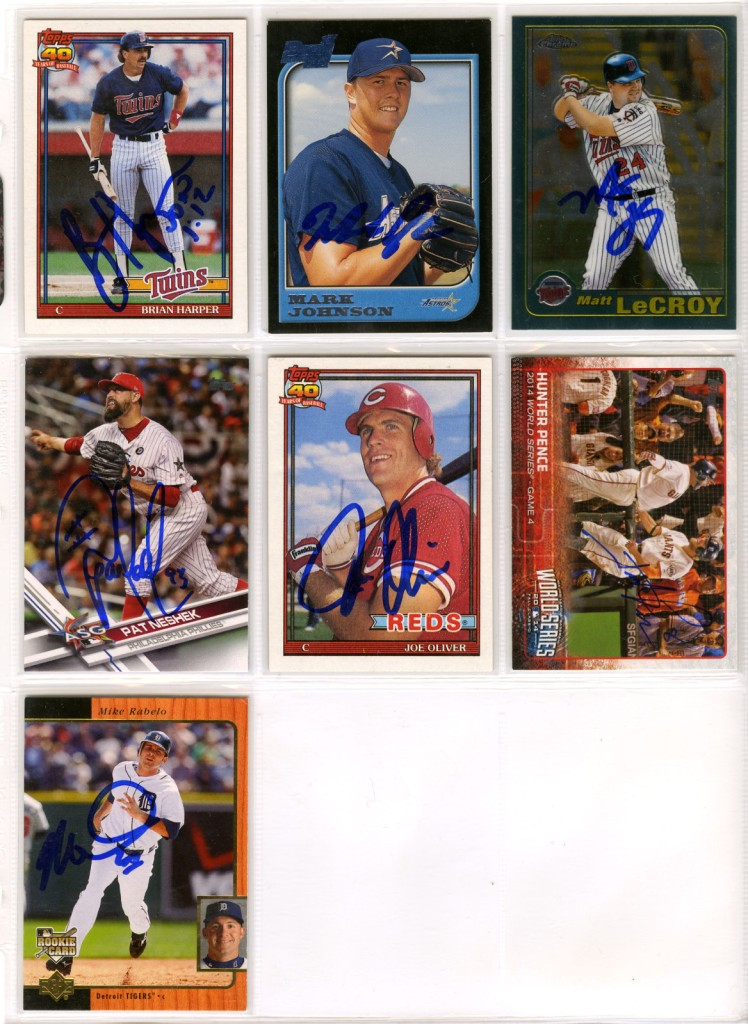 41761b38 His brother's binder is pretty similar except that his one TTM return is in  there and there are a couple 1991 Topps cards that he pulled from his own  binder ...