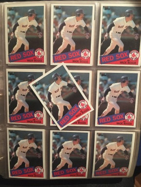 Look at all of those 1985 Topps Boggs cards