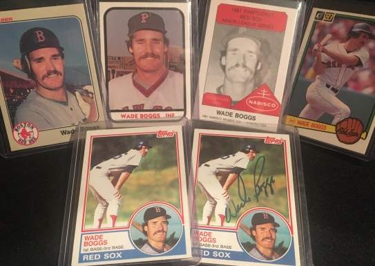 Author's Boggs rookie cards