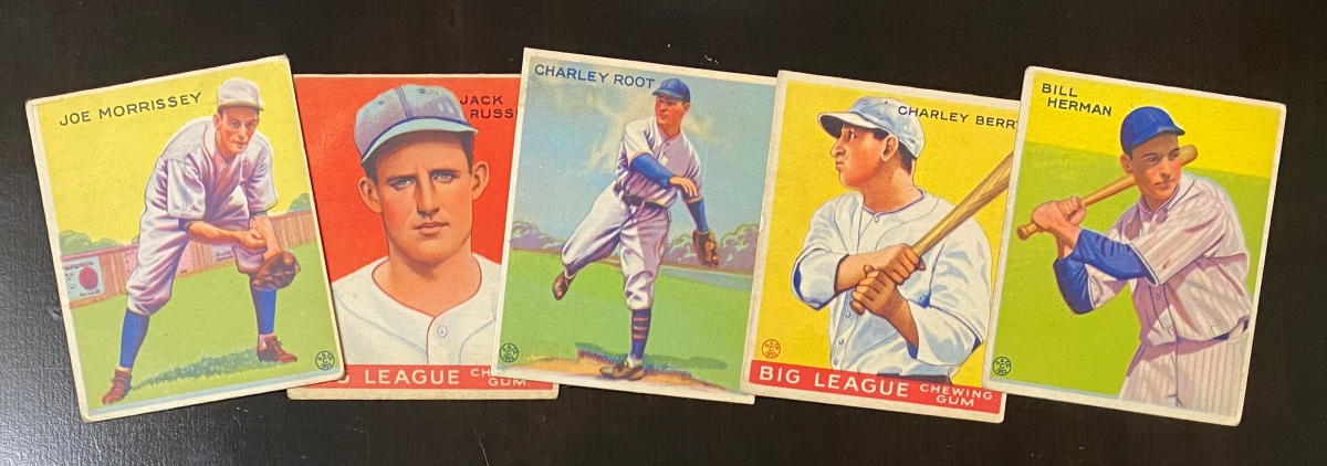 Overanalyzing 1933 Goudey, part one