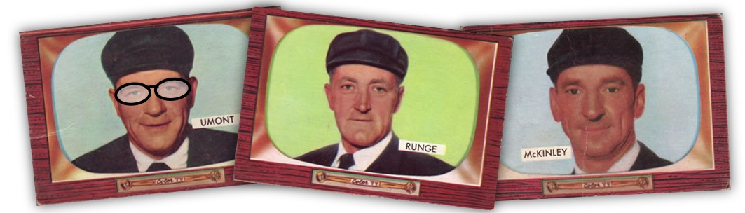 The umpires of 1955Bowman